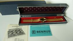 Benrus Swiss Gold Plated Menand039s Watch In Excellent Condition Handwinding