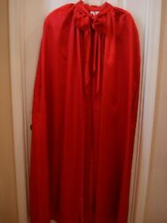 WOMENS FABULOUS RED EVENING PAGEANT FORMAL CAPE ONE SIZE $49.95