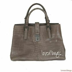 RARE BOTTEGA VENETA CROCODILE ROMA BAG - STEEL - BRAND NEW CONDITION