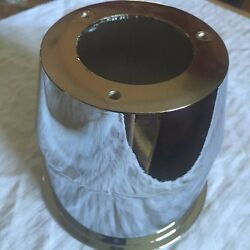 Aftermarket Open Ended Wheel Center Cap 108mm Center Bore New Chrome Middle