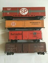 Athearn Atlas Roundhouse Etc Job Lot Of 4 Mixed Box Cars Ho Scale T48 Post Job 5