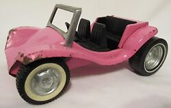 Vintage Nylint Toys Pink Sports Car Made In Il Usa Decent Metal Framed Rare