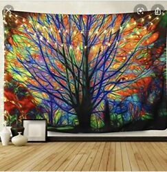 BLEUM CADE Colorful Tree Tapestry Wall Hanging 51x59 $9.99