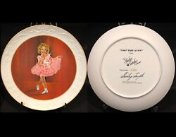 The Shirley Temple Baby Take A Bow 1935 Signed Collectors Plate Coa 2130 Of 2500