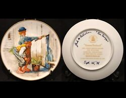 Norman Rockwell Whitewash 1976 Collectors Plate Signed By Jack Callahan
