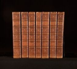 1809 7vols The Poetical Works Of John Milton In Leather Binding With Plates