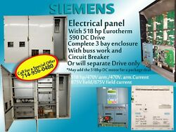Siemens electrical panel with DC drive 518 horse power