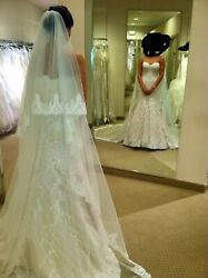 """Bridal Gown by MATTHEW CHRISTOPHER """"Sofia"""" Size 8 Elegant Couture Wedding Dress"""