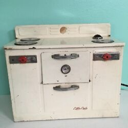 Vintage Metal Toy Empire Little Lady Stove Top Works