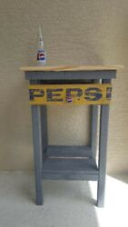 Vintage Pepsi End Table.andnbsp Made From Recycled Pallet And Crate Materials.