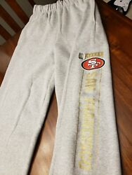 Super Bowl San Francisco 49ers Nfl Team Issue Workout Sweat Pants Nwt Small