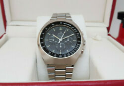 Rare Vintage Omega Speedmaster Black Dial Mark Ii Chronograph And Box Manand039s Watch