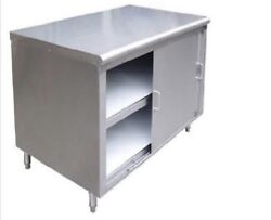 All Stainless Steel 24x60 Commercial Storage Dish Cabinet W/ Sliding Doors Nsf