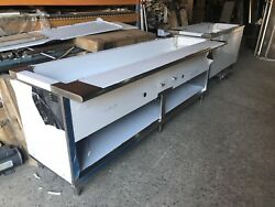 84 Stainless Steel Steam Table 6 Pans 2 Burners Nat Gas 40000 Btu Nsf Approved