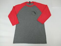 Sonny's Bbq Local Pitmasters Since 1968 Gray Red Small Raglan T-shirt A1500