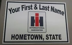 Personalized I-h International Harvester Tractor Aluminum Name Sign