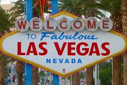 Large Welcome To Las Vegas Sign Usa Nevada Canvas Picture Wall Art