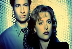 Large X Files Mulder And Scully Vintage Tv Canvas Picture Wall Art