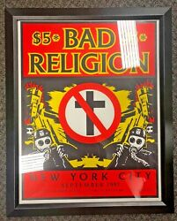 Shepard Fairey Bad Religion Cbgb's New York City 1997 Print Nyc Poster Obey
