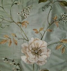 Colefax And Fowler Magnolias English Garden Embroidered Silk Fabric 10 Yards Old B