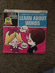 A Day In School Series Learn About Words Peter Pan Records Vinyl Vintage