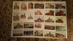Antique Vintage Postcard Lot Of 38 Buildings And Structures In Colorado