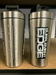 Shaker Bottle Stainless Steel 2 Pack New 25 Oz Fast Free Shipping