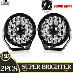 2x Super Bright Round 8.5inch LEDS Laser Driving Lights 1709m 9744LM Offroad 4x4