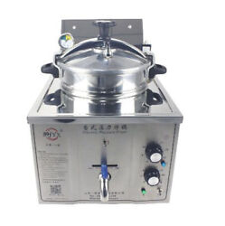 220v Commercial Electric Pressure Fryer 15l Electric Frying Oven 50-200anddegc