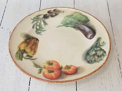 Williams Sonoma Jardin Potager Serving Platter Chop Plate Made In Italy - New