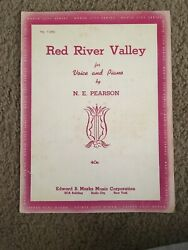 Red River Valley By N. E. Pearson Vintage Sheet Music Rare Find