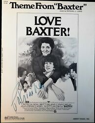 Patricia Neal Signed Theme From Baxter Love Baxter Sheet Music Jsa Authenticated