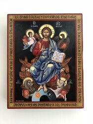 Jesus Christ Enthroned Made To Order Eastern Orthodox Byzantine Icon On Wood