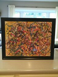 Hendrik Grise Vintage Original Double Sided Abstract Nude Expressionism Painting