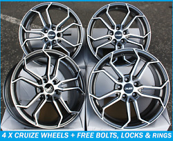 18 Alloy Wheels Gunmetal Polished Face Concave Cruize Cr5 Alloys For Volvo