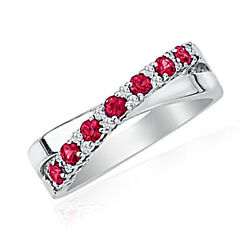 1/10 Ct. Tw. Diamond And Ruby Ring In 10k White Gold