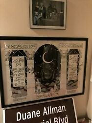 Allman Brothers Devon Allman And Berry Jr Signed Macon Poster