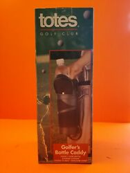 Totes Golf Club Golfers Bottle Caddy Bag Brand New in Box Vintage Classic Sport $4.99