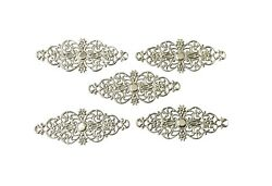 25 Pcs Silver Plated Embellishment Scrapbooking Filigree Metal Stamping Lace