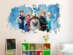 Frozen Movie Group Wall Decals Stickers Mural Home Decor For Bedroom Art Gs311
