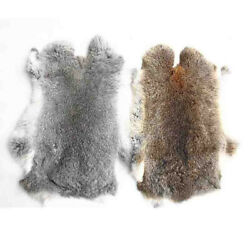 1pc 16x9 Genuine Natural Rabbit Fur Skin Tanned Leather Hides Craft Pelts New