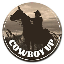 Signmission Cowboy Up Circle Corrugated Plastic Sign