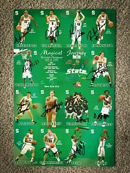 Michigan State Spartans Menand039s 03-04 Basketball Uncut Schedule Set - Autographed
