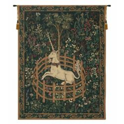 The Hunt Of The Unicorn In Captivity Medieval European Woven Tapestry Wall Art