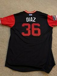 2017 Yandy Diaz Players Weekend Signed Game Used Jersey - Rays Indians Mlb Coa