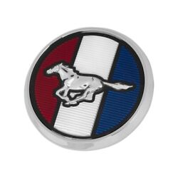 1979-1982 Mustang Front Hood Emblem Red White Blue Running Horse 3.25 Ornament