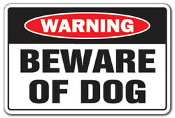 BEWARE OF DOG Warning Decal dog pet parking pit bull Decals security guard dog