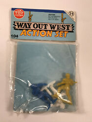 60's 70's Vtg Way Out West Action Figures Set Toy House Dime Store