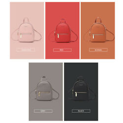 New Designer Fashion Women Backpack Mini Soft Press Multi Function Small F4G1