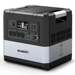SUAOKI 1182Wh 1000W Energy Storage Power Station Solar Generator Inverter AC DC